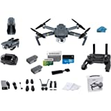 DJI Mavic PRO Portable Collapsible Mini Racing Drone with 2 Total Batteries, + 64GB Sandisk Extreme SD Card + 3.0 Card Reader, Koozam Cleaning Cloth
