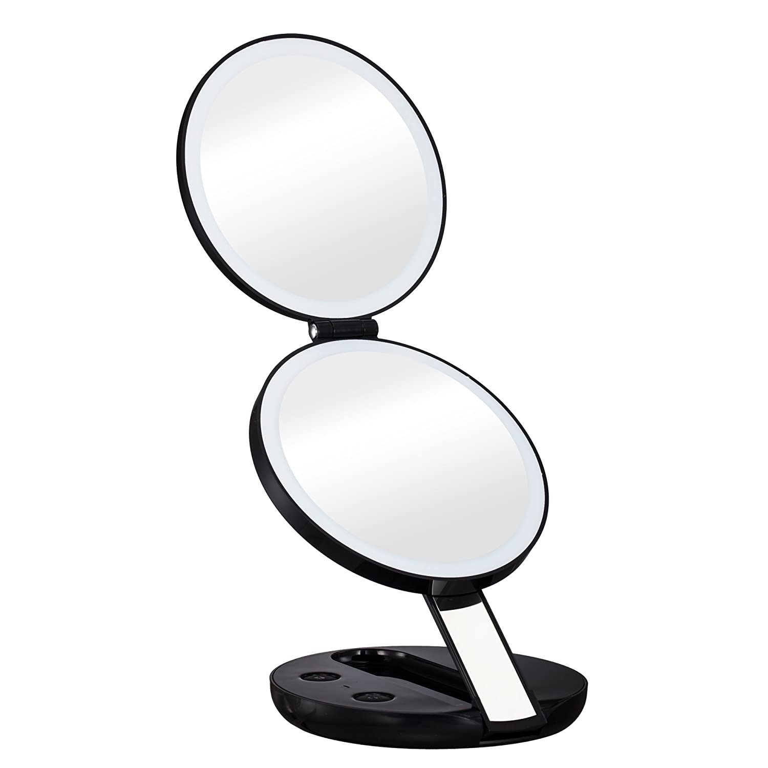 makeup mirror with lights clipart. amazon.com: gotofine led lighted travel makeup mirror with 10x magnifying - double-sided luxury compact folding handheld cosmetic magnifies lights clipart l