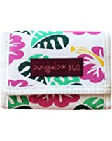 Bungalow 360 Tri-Fold Wallet, Hibiscus Flower