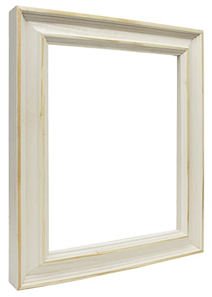 Amazon.com - Country White Picture Frame-Solid Wood, 12x18 - Single ...