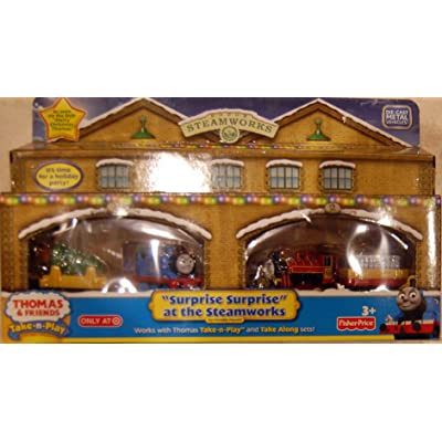 """Thomas & Friends Take N Play 4 pack Holiday """"Surprise Surprise"""" at the Steamworks: Toys & Games"""