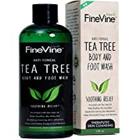 Antifungal Tea Tree Oil Body Wash Helps Treat Eczema, Ringworm, Body Odor, Jock Itch, Acne, Toenail Fungus & Athlete - Best Antibacterial Soap For Skin Irritations