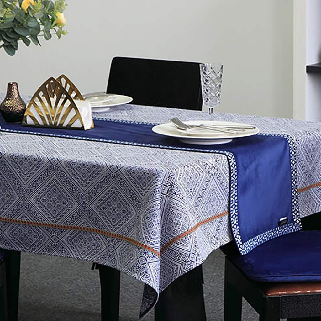 blu 32160cm Gcxzq Rettangolari Poliestere correreners correrener da Tavolo Tavolo da Pranzo Beiera Semplice Tovaglia for Feste Forniture Soggiorno da Casa (Coloree   blu, Dimensione   32  200cm)