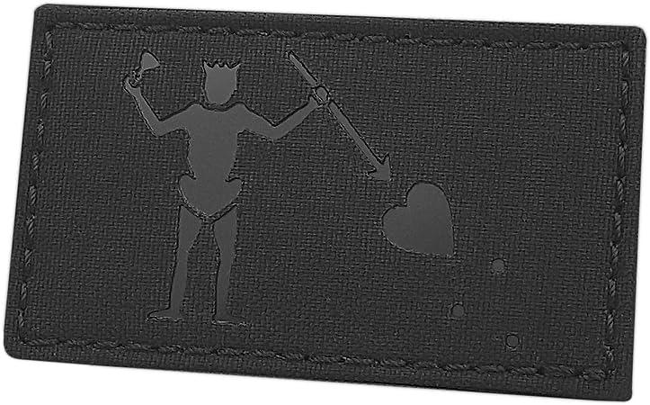 Blackbeard Pirate Reflective Edward Teach 2x3.5 DEVGRU Navy Seals Tactical Morale Patch