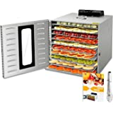 10 Layers Commercial Stainless Steel Food Dehydrator for Food and Jerky Fruit Dehydrator, Professional Jerky Maker Dryer…