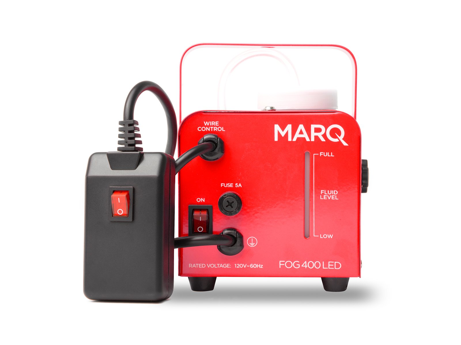 MARQ Fog 400 LED | 400W Water-Based Special Effects Fog Machine with Red-Color LED Lights (Red) by MARQ (Image #3)