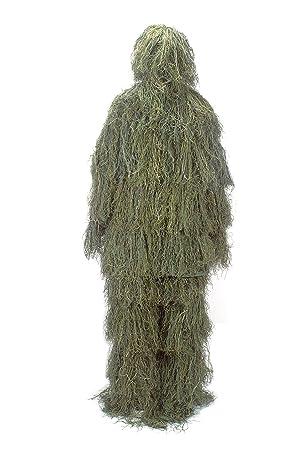 NINAT Ropa Camuflaje 3D Traje de Camuflaje Caza Ghillie Suit para Caza Ropa Pantalones Chaqueta Woodland