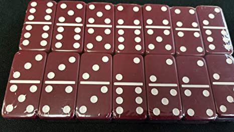 Domino Double 6 Blue Tiles Jumbo Tournament Size NO Spinners