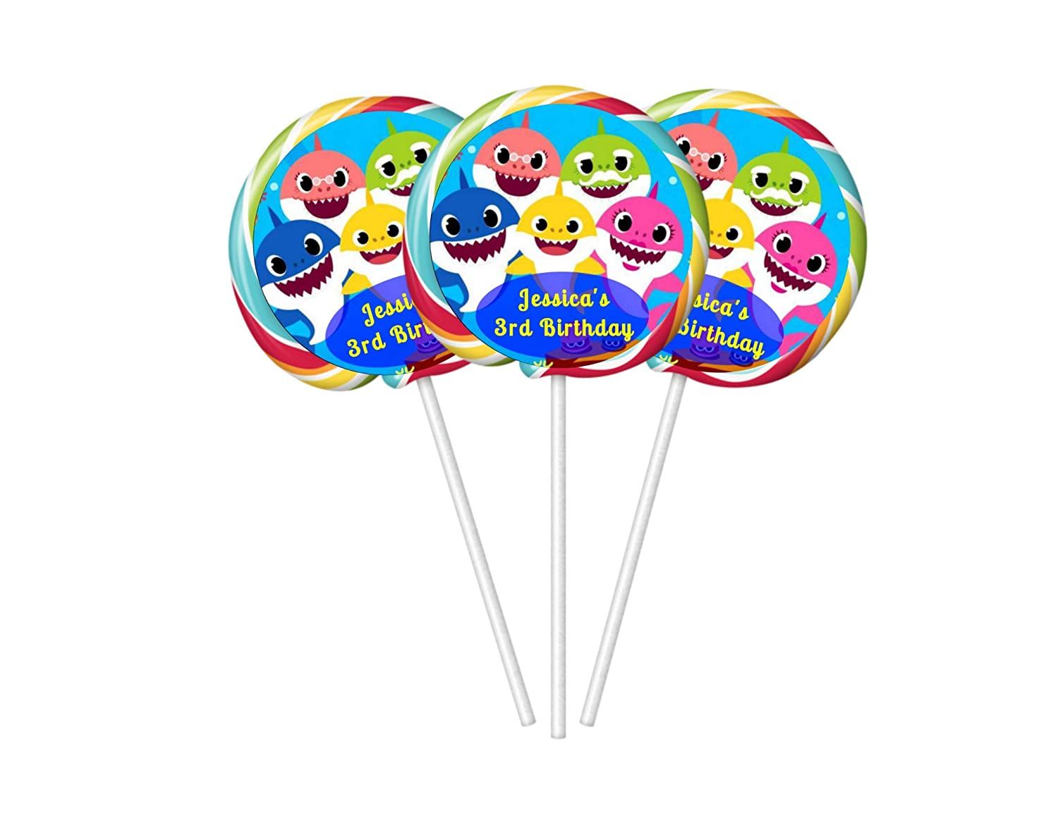 """20 PAW PATROL BIRTHDAY PARTY FAVORS LOLLIPOP PARTY FAVORS STICKERS LABELS 2/"""""""