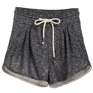 Cordón De Las Mujeres Cintura Elástica Pantalones De Chándal Mode ...