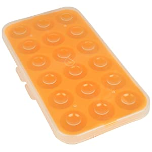 Silicone Baby Food Storage Tray (2 Pack) - Pop Out 1oz Portion Silicone Freezer Tray - Non Toxic, BPA & PVC Free