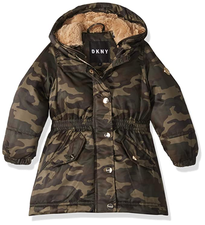 fbafac98a Amazon.com: DKNY Girls' Long Anorak Jacket: Clothing
