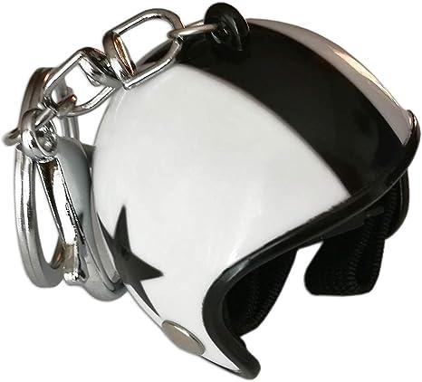 Portachiavi a forma di casco da moto stile antico grande regalo per lui