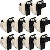 Yellow Yeti 10 Rollos DK-11201 29 x 90mm Etiquetas de dirección compatibles para Brother P-Touch QL-500 QL-570 QL-700 QL…