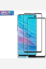 Mighty Compatible [2 - Pack] Samsung Galaxy S10 Tempered Glass Screen Protector, [9H Hardness][Anti-Scratch] [Anti-Fingerprint][3D Curved][Ultra Clear] Screen Protector for Galaxy S10(Black) Paperback
