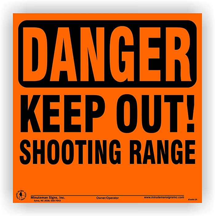 The Best Shooting Range Signs