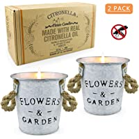 Yinuo Mirror Citronella Candles Outdoor, 13.5 x 2 OZ Natural Soy Wax Mosquito Hateful Bucket Scented Candles Aromatherapy Gift Set for Bedroom, Garden, Patio, Camping Picnic