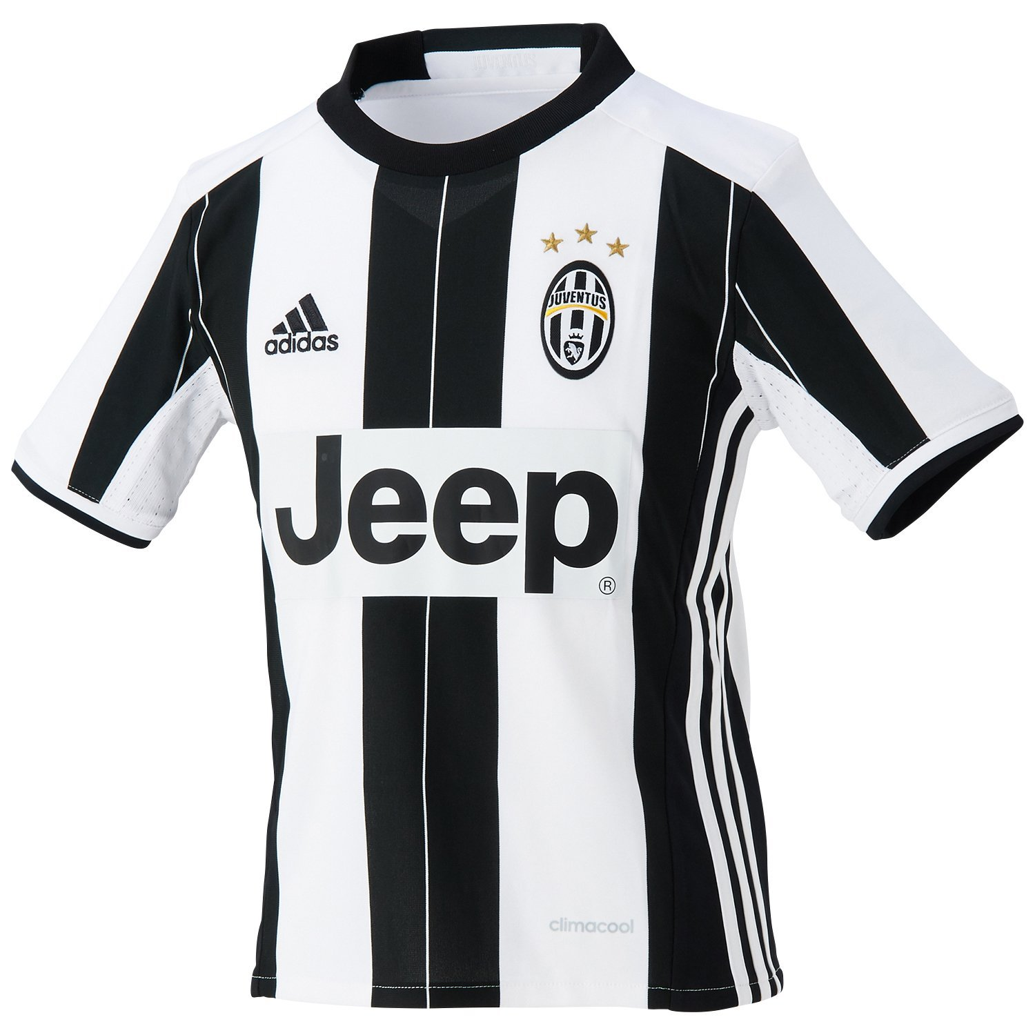 098d90286 adidas JUVE H JSY Y - 1st Football kit T-Shirt for of Juventus FC 2015 2016  for Boys  Amazon.co.uk  Sports   Outdoors