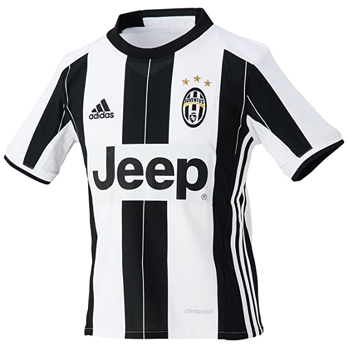 adidas JUVE H JSY Y - 1st Football kit T-Shirt for of Juventus FC 2015 2016  for Boys  Amazon.co.uk  Sports   Outdoors 40b9009e4