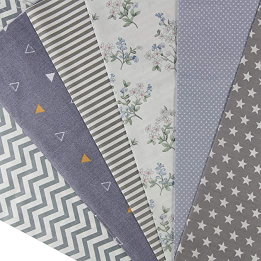 Aufodara - 6 parches de tela de 50 x 50 cm (algodón, artesanal ...