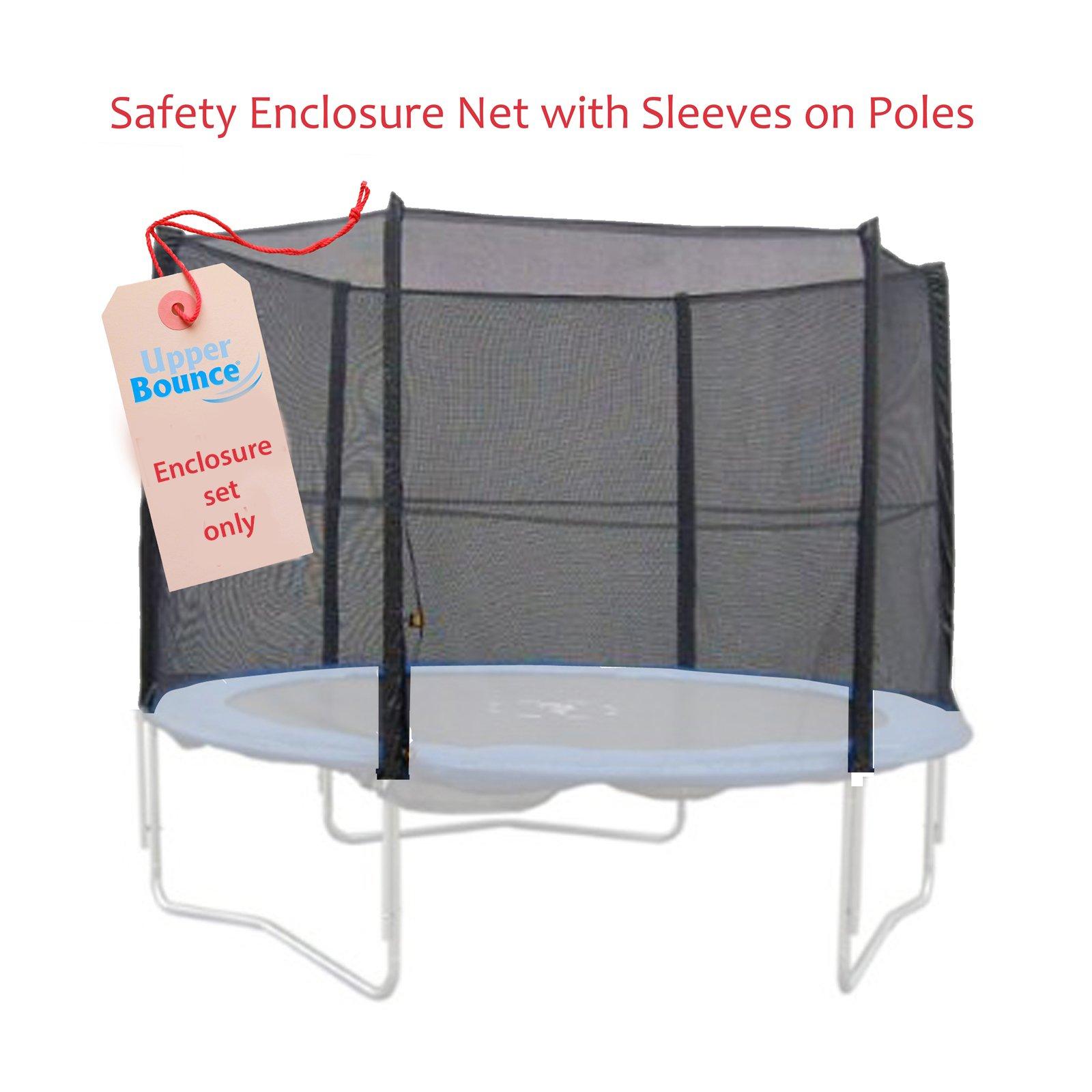 8 Pole Trampoline Enclosure Set for 14-Ft round | Trampoline net replacement | Trampoline net with poles | Replacement trampoline parts | Outdoor trampoline replacement net for trampoline nets