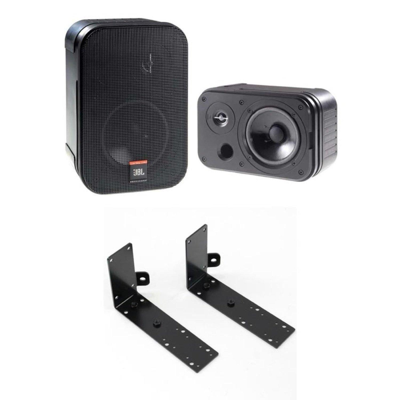 JBL PROFESSIONAL Control 1 PRO 2Way フルレンジ小型スピーカー ペア CTLB-1 壁天井取付金具付きセット B06Y5DCVBG