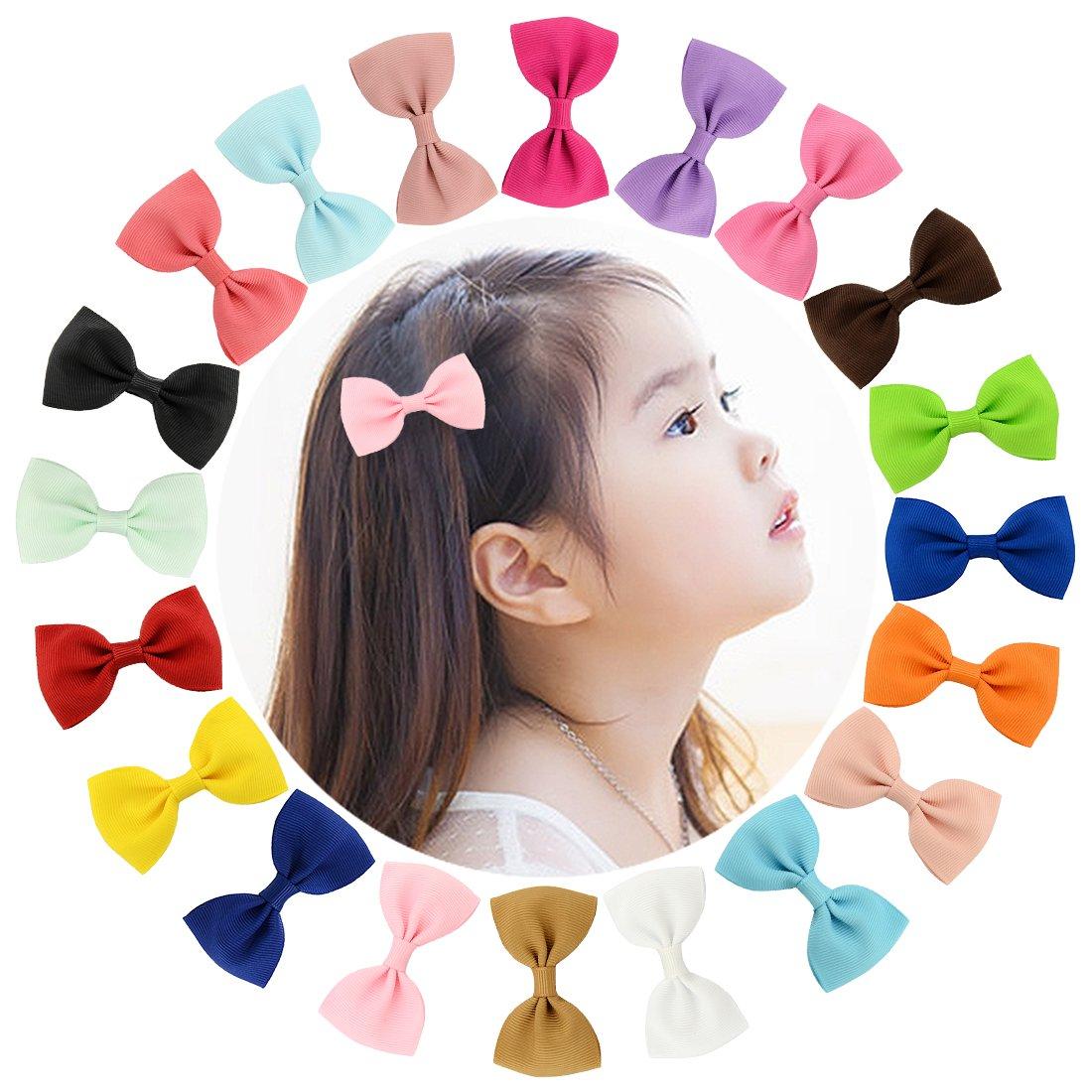 Txian - 20 lazos de horquilla de pelo para niña