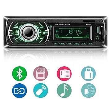 Autoradio Bluetooth, ieGeek Audio del Coche Reproductor MP3 Estéreo, Llamadas Manos Libres, FM