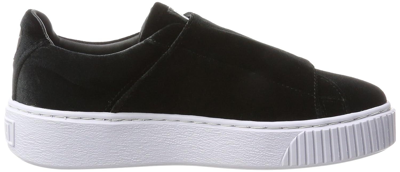 Puma Platform Damen Basket Platform Puma Strapvr Sneaker Schwarz (schwarz-schwarz-icelandicBlau) 983081