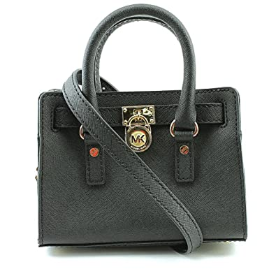 0085a6124f07 Amazon.com  MICHAEL Michael Kors Hamilton Mini Messenger Crossbody Bag in  Black  Shoes