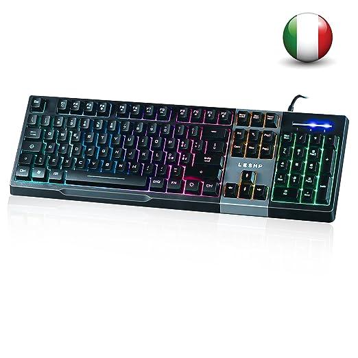 31 opinioni per Tastiera LED Colorato Retroilluminato Multi-Controllo Multimedia Italiano con