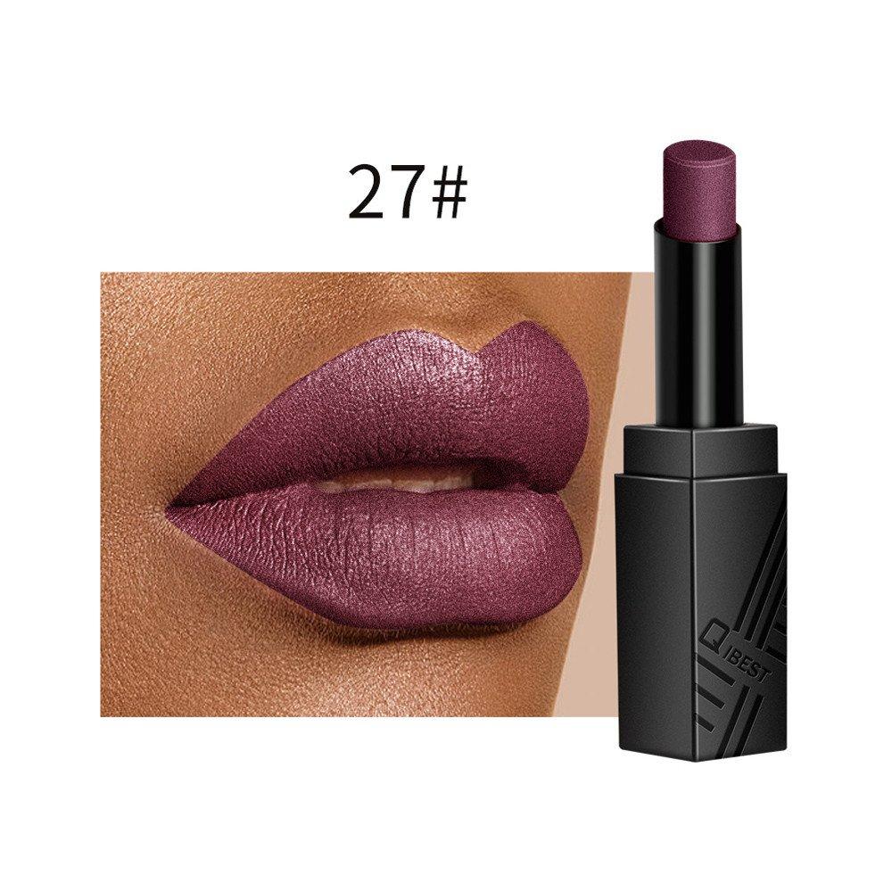 Liquidation !!! OSYARD Beauté Lèvre Lingerie Velours Mat Liquide Rouge à lèvres Imperméable Lèvregloss Maquillage 17 Shades(#08)