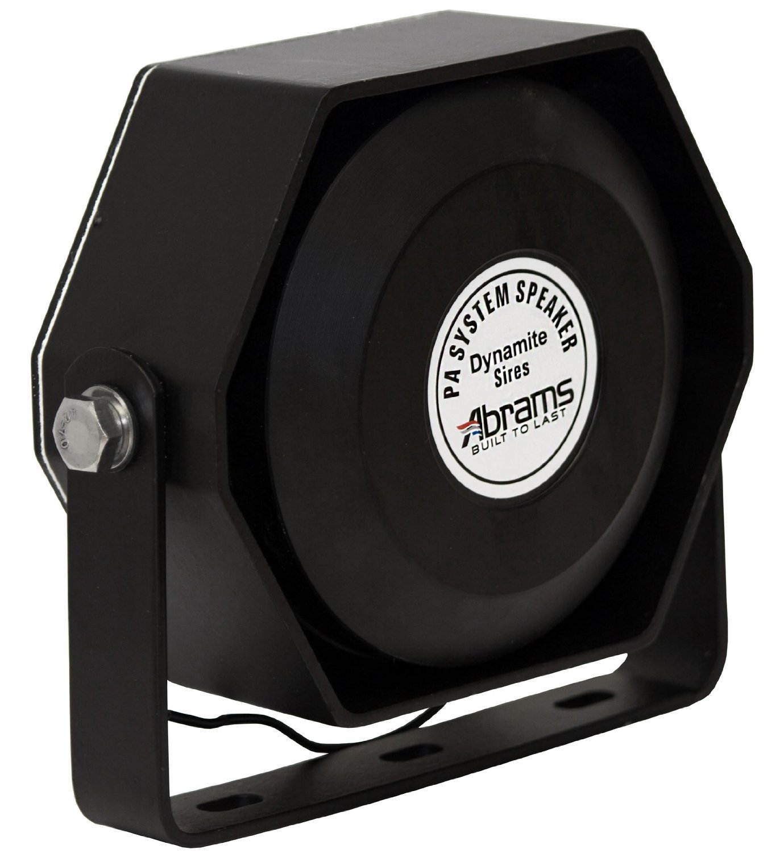 Abrams Compact 100 Watt High Performance Siren Speaker (Capable with Any 100 Watt Siren) Ultra Slim Low Profile