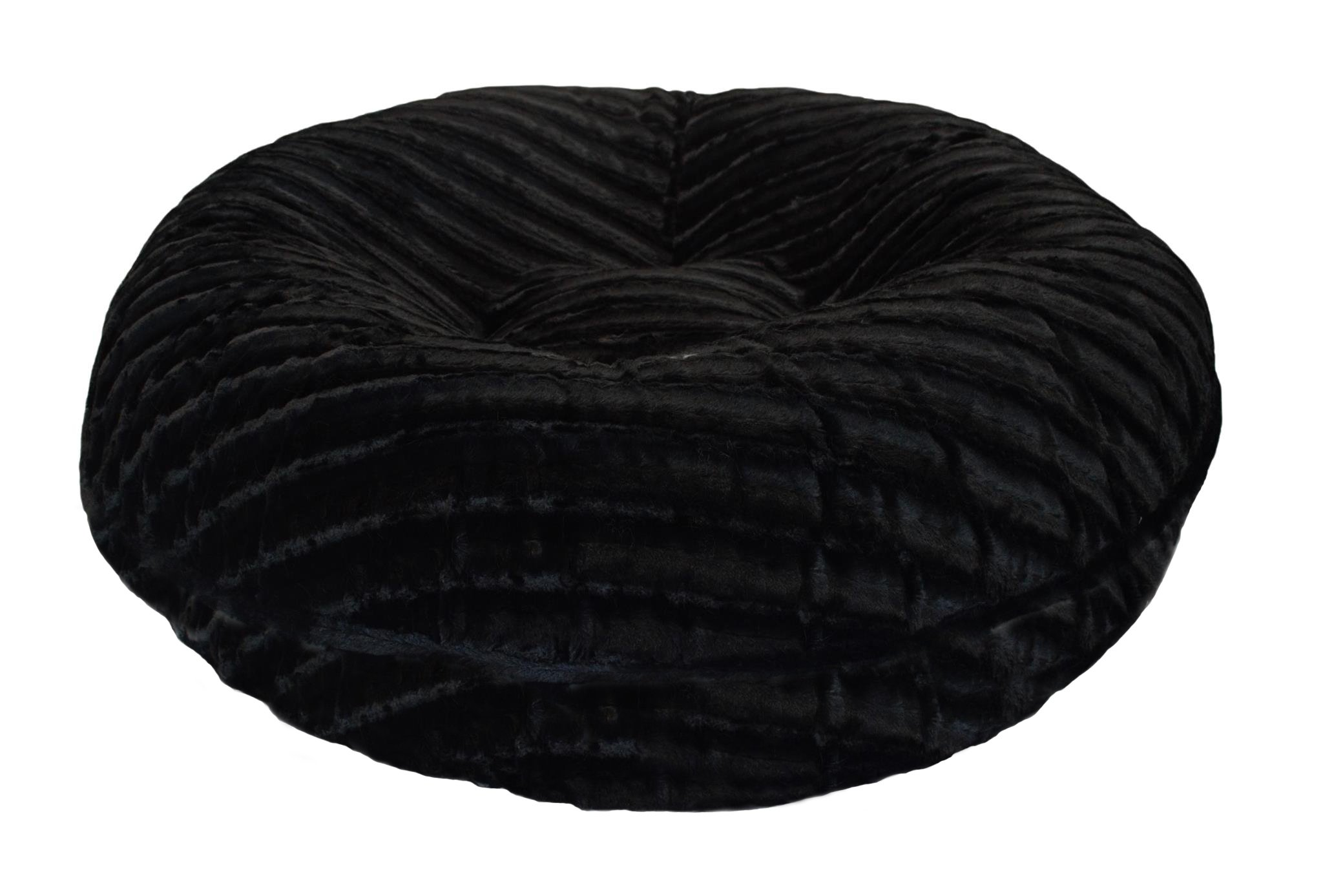 BESSIE AND BARNIE 24-Inch Bagel Bed for Pets, X-Small, Black Puma by BESSIE AND BARNIE (Image #1)
