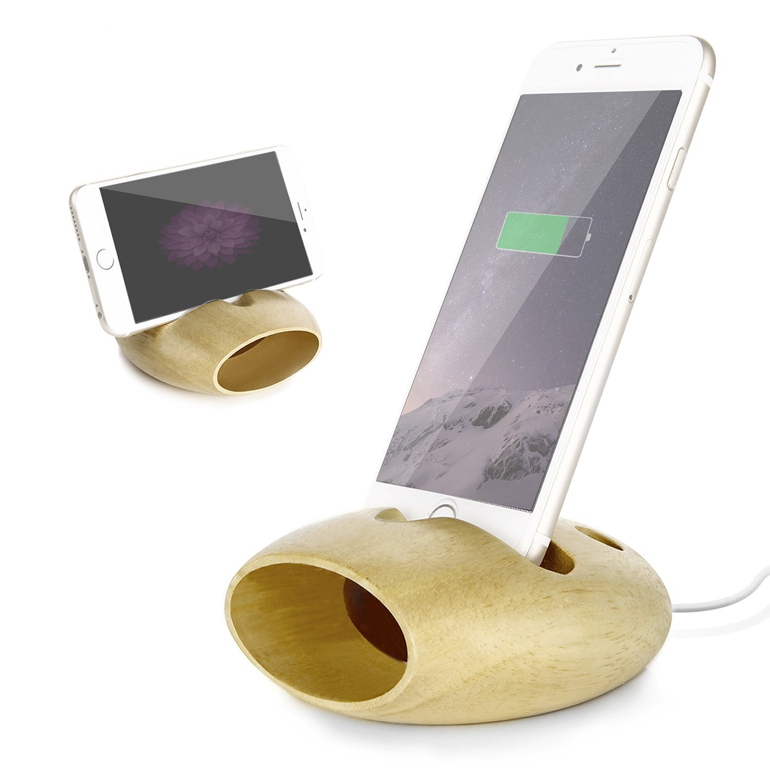 Jelly comb support t l phone portable smartphone en bois for Support telephone portable