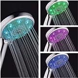 aquatimez-bathroom luce LED soffione doccia per showering-chromed finitura