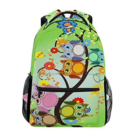Amazon.com  WXLIFE Cute Owl Family Flower Tree Backpack Travel ... 90d01c1c80f0e