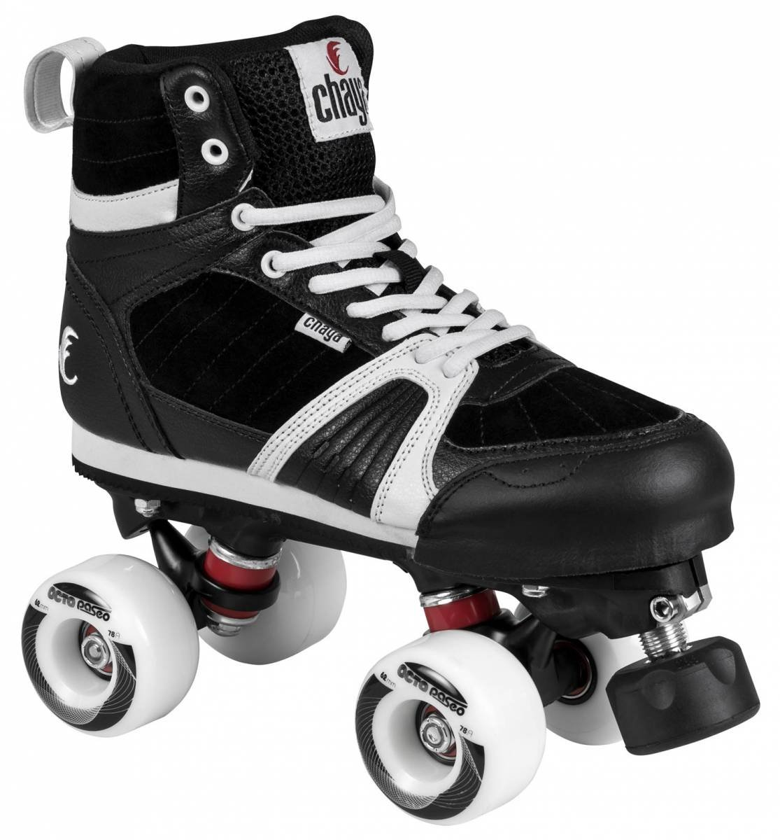 Chaya Jump Black Outdoor Park Roller Skate with Dual Center Mounting (Euro 41 / US 8)