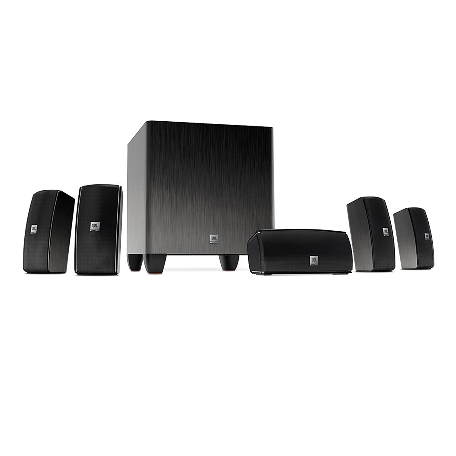 6fdff370d43dd JBL Home Cinema 610 Advanced Easy Install 5.1 Home Theatre Surround Sound  Speaker System Including Five Satellite Speakers and 60 W Powered Subwoofer  ...