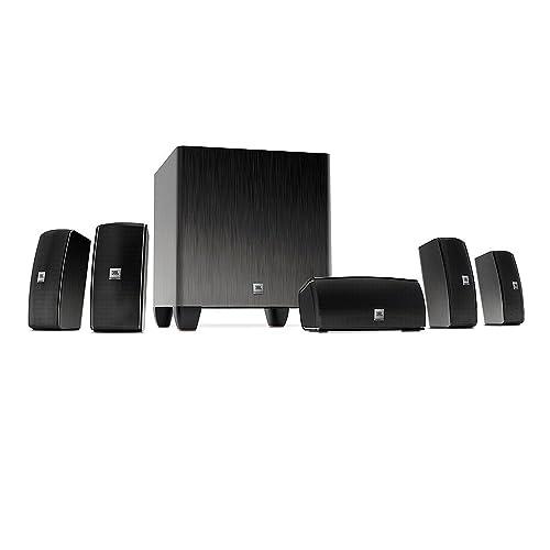 JBL Home Cinema 610 5.1 home cinéma Surround système de haut-parleurs avec son 60 watts subwoofer actif et 5 enceintes satellites, plug and play système facile à installer - Noir