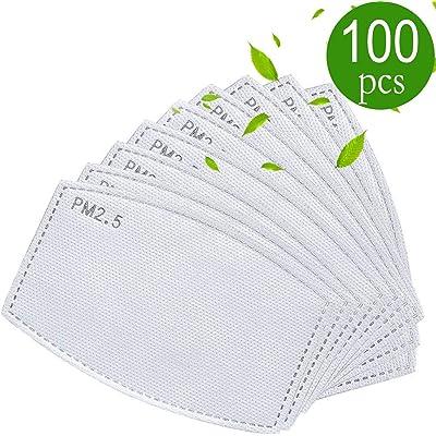 Filtro de carbón activo de repuesto para ropa Meltblow 5 filtros de tela PM 2.5 filtros antihaz 100 Pack