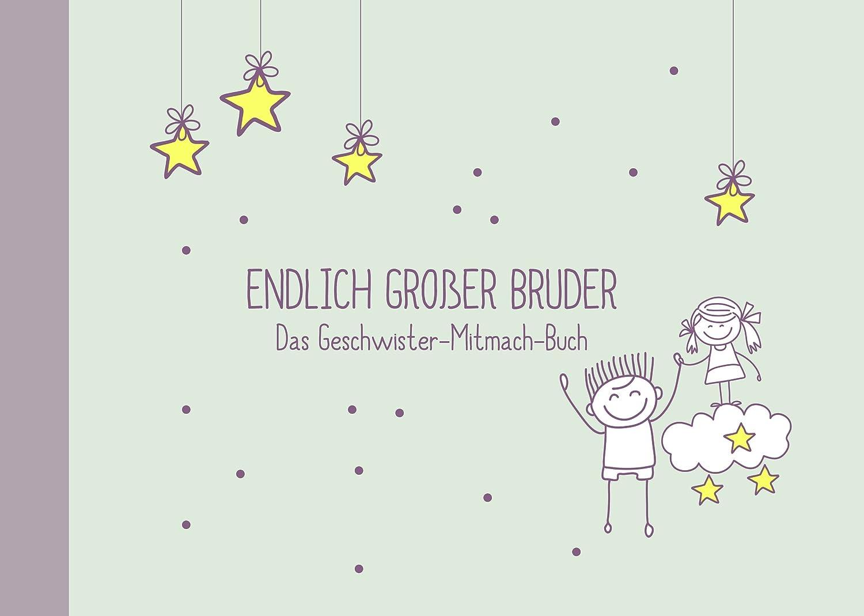 Geschenk für großen Bruder:kleine Schwester + großer Bruder-Buch (Öko, Recycling-Papier, Erinnerungsalbum/Fotoalbum für Geschwister zur Geburt) Deko-und-Geschenke-Shop