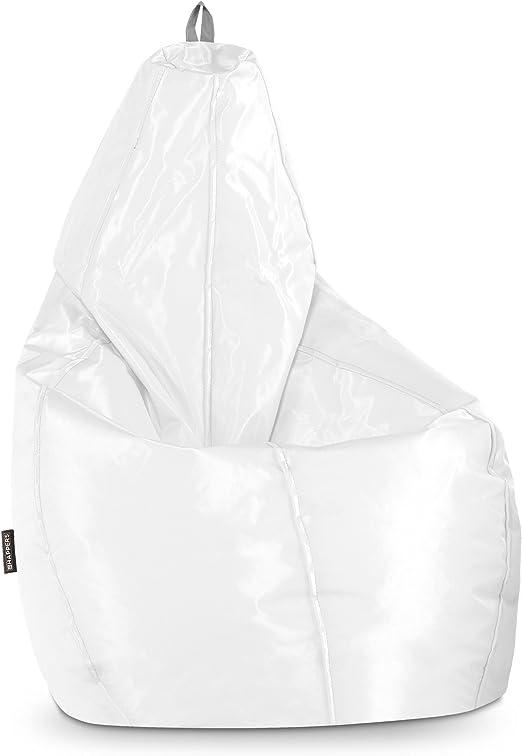 HAPPERS Puff Pera Naylim Impermeable Blanco XL: Amazon.es: Hogar