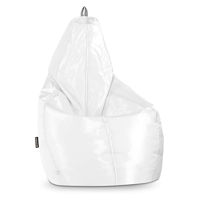 Happers Pera Puff Naylim Impermeable, Poliéster, Blanco, XL