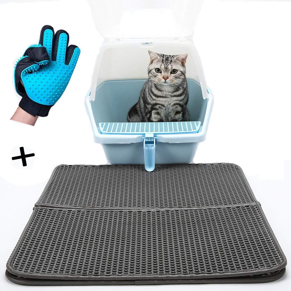 WAFOR Double Detachable cat Litter mat Cat Massage mat Cat placemat Quick-Drying Washable cat Litter mat Waterproof, Large Size 4560cm by WAFOR
