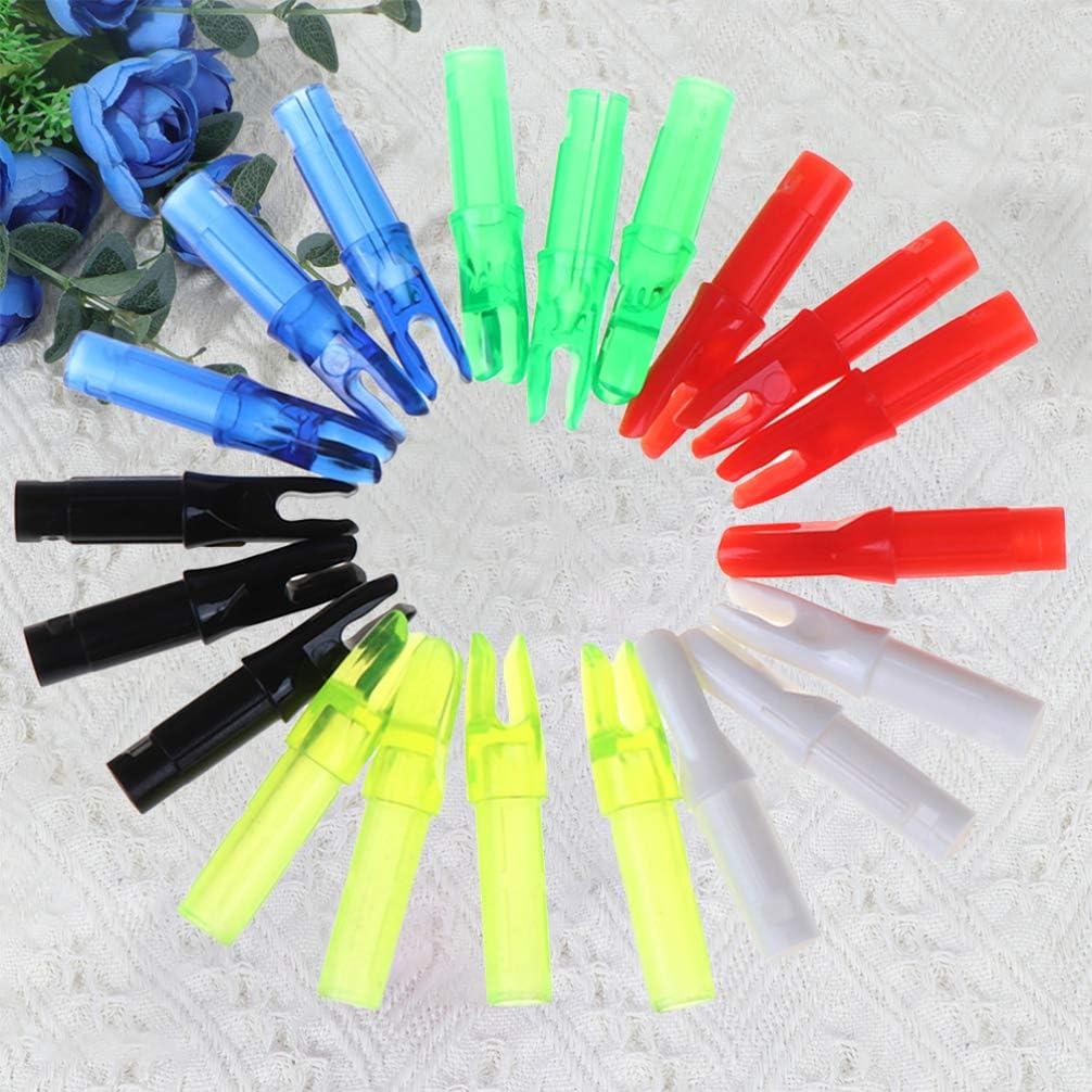 accessori per la caccia CLISPEED freccette per tiro ad arco caccia compound colori assortiti Set di 20 freccette con inserto in plastica