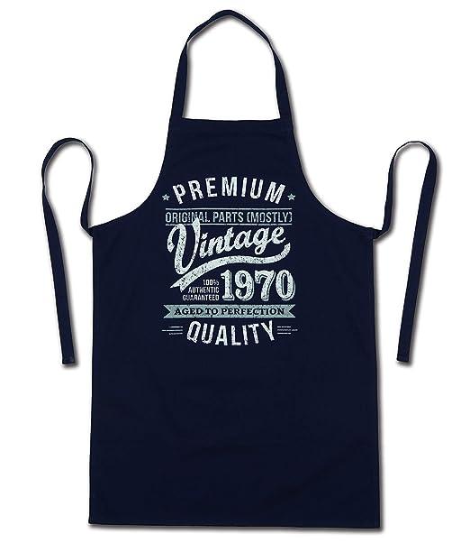 My Generation Gifts 1970 Vintage Year - Aged To Perfection - 50 Cumpleaños Regalos / 30 años Delantal para Hombre Azul Marino