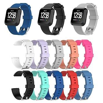 Fitbit Versa Gr S Ersatz Silikon Armband Uhren Sport Band Fitness Tracker