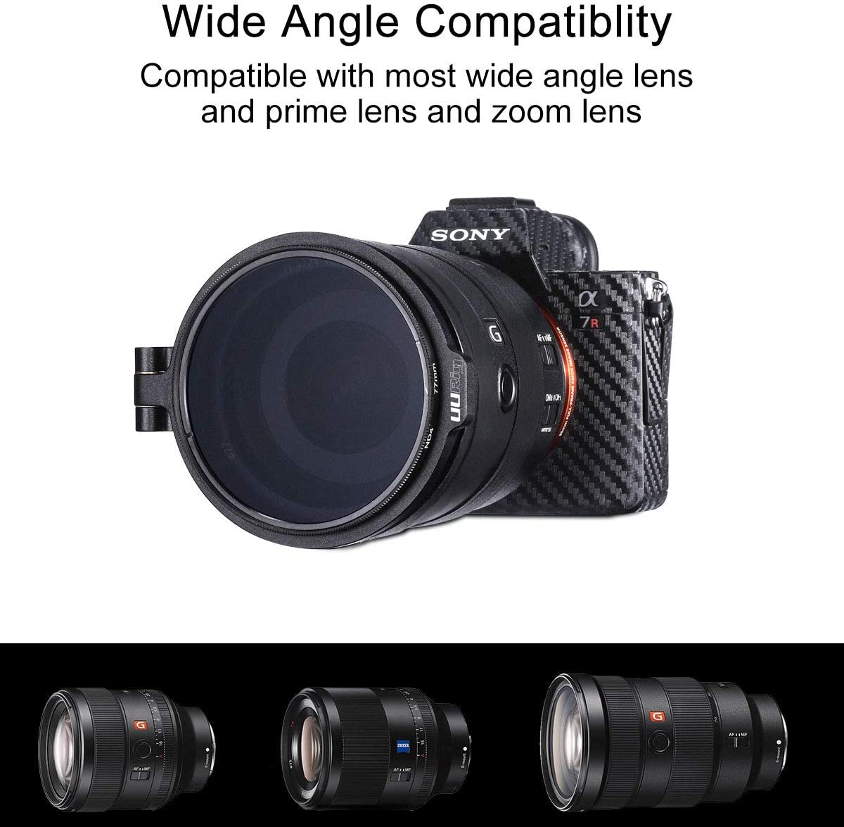 Filter Ring Adapter 49//58//67//72//77//82mm Available 1 Pack Camera Lens Filter Metal Stepping Ring Rapid Filter System Compatible for Canon Nikon Sony Olympus DSLR Camera