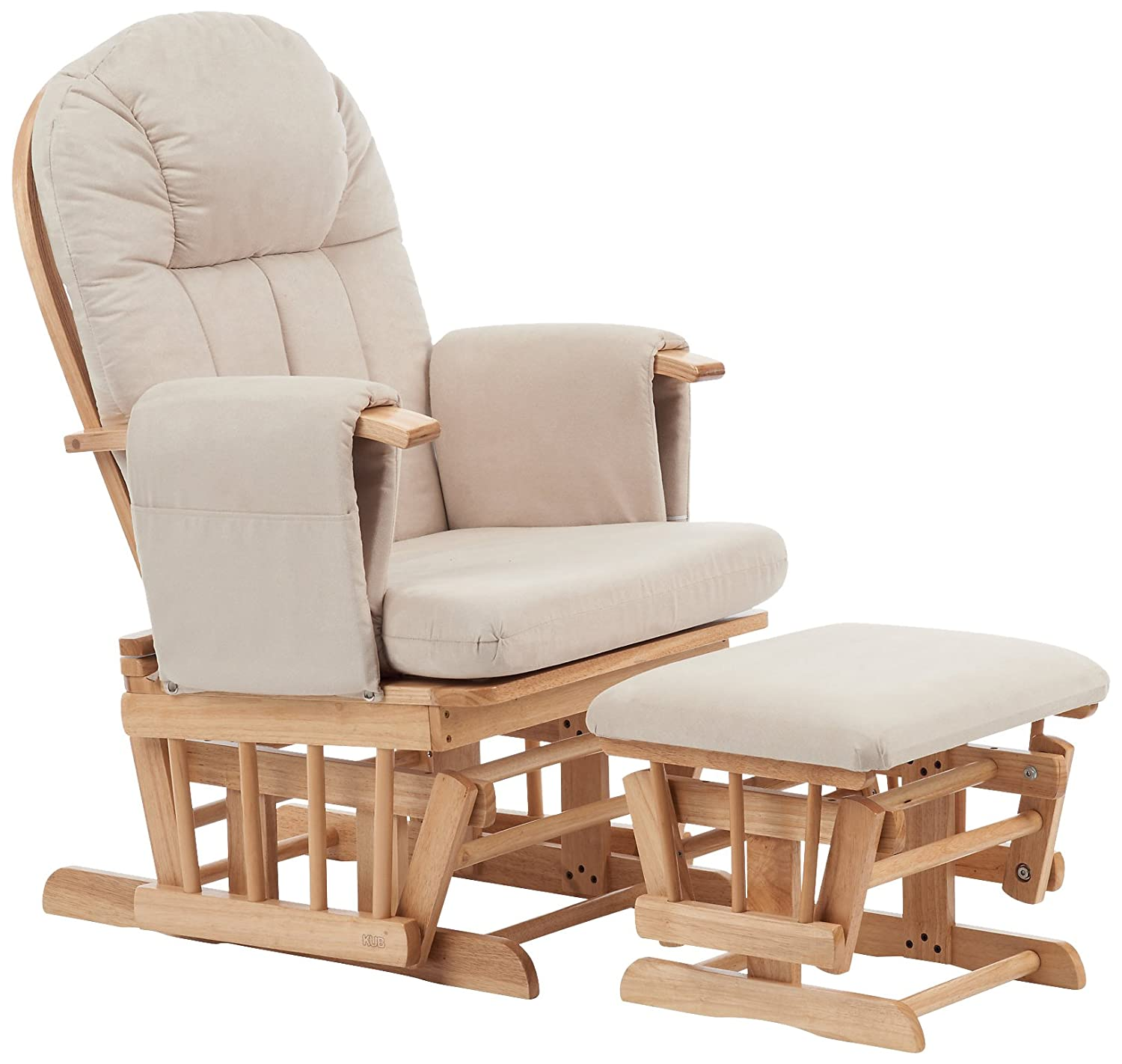 Mothercare Natural Reclining Glider Chair with Cushion, Beige A3457